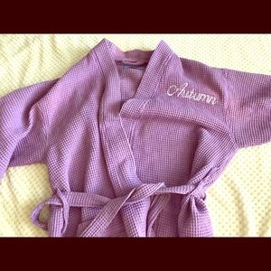Other - Autumn robe personalized purple one size fits most